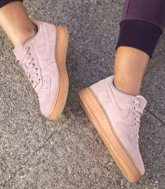 """120.7k Likes, 1,330 Comments - NikeWomen (@nikewomen) on Instagram: """"Beautiful Force 💗💪 ⠀ The Air Force 1 special edition combines a soft suede upper with a classic gum…"""""""