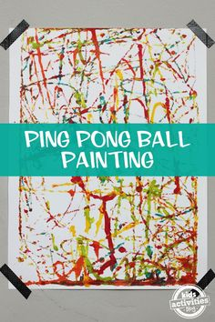 Part art project, part gross motor activity ping pong ball painting is so much fun!