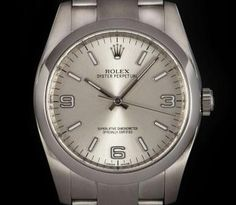 Rolex Oyster Perpetual Gents Stainless Steel Silver Dial B&P 116000 Rolex Oyster Perpetual, Oysters, Omega Watch, Stainless Steel, Silver, Money