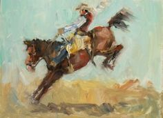 Connie Chadwell's Hackberry Street Studio: Lookin' for Eight - original oil figurative rodeo painting