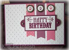 SU! You're Amazing and Itty Bitty Bits stamp sets; colors are Rich Razzleberry and Regal Rose - Kristine McIntosh