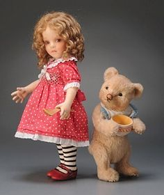 R John Wright Goldilocks & Baby Bear