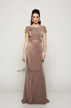 Style E2071 from Milano Formals shown in Biscotti Sizes: 00-18