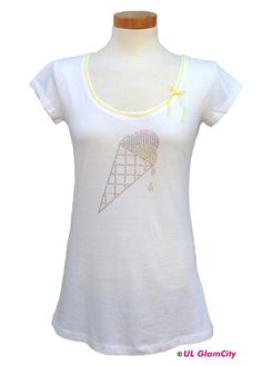 Shirt, weiß, Eis