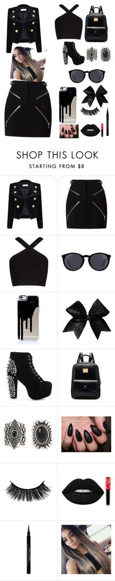 """""""Cute bad girl outfit"""" by americapatino ❤ liked on Polyvore featuring Yves Saint Laurent, Alexander Wang, BCBGMAXAZRIA, Jeffrey Campbell, New Look, Lime Crime and Givenchy"""