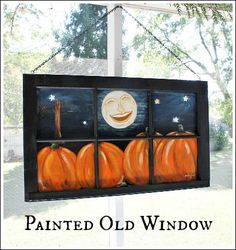 painted window-I know a few friends who paint. Bet I could get one to do this for me.