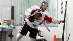 Patrick Kane at practice