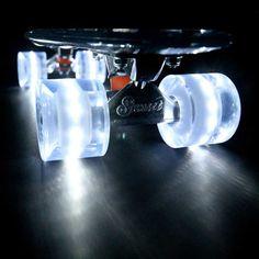 The #Ghost #Skateboard - #pimp my #ride - #LED #wheels - #skaters heaven.