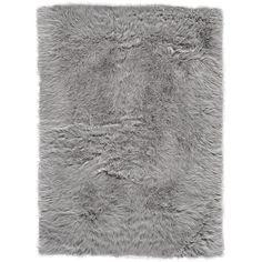 House of Hampton Linden Faux Fur Gray Area Rug Rug Size: Rectangle Faux Fur Area Rug, Faux Sheepskin Rug, Teal Area Rug, Beige Area Rugs, Grey Fur Rug, Area Rug Sizes, Furla, Colorful Rugs, Wool Rug