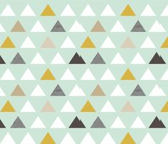 modaquatriangles fabric by mrshervi on Spoonflower - custom fabric