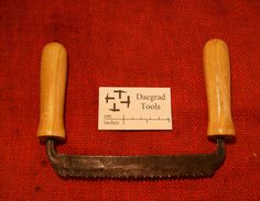 """viking hedeby saw a hand forged saw with set, based on the fragmentary saw find from hedeby (viking period) nominally 7"""" long around 6 to 8 tpi made in sheffield england by daegrad tools"""