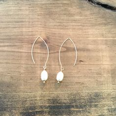 Earrings-Peal and Gold