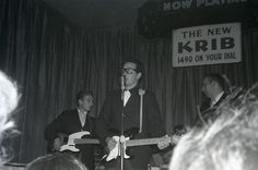Buddy Holly on stage at The Surf ballroom in Clear Lake, Iowa, Feb. 2, 1959.