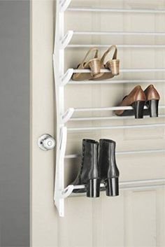 Space-Saver-Shoes-Hanger-Over-Door-Shoe-Storage-Rack-36-Pair-Holder-Cabinet-Grid