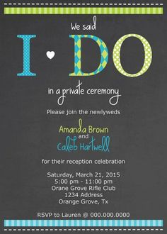 5x7 I Do Reception Only Wedding by SouthernArrowDesigns on Etsy