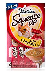 Delectables Squeeze Up Interactive Wet Cat Treats – Chicken – 32 Tubes