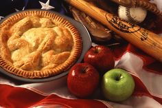 Mom's apple pie, baseball and the American flag.