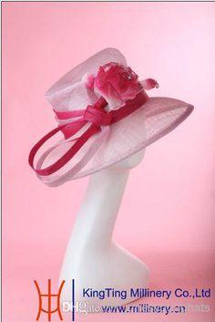 New women elegant hat ladies hat church sinamay fabric big brim hat winter hat sinamay flower hat sinamay ribbon 5pcs/lot free EMS shipping