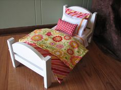 American Girl / 18 doll sized bedding  Hello by MadiGraceDesigns, $27.00