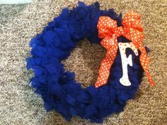 University of Florida Gators Wreath Blue and by PreppyWreathShop, $26.00