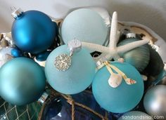 Sea Glass Ornaments - Think I am going to make these for the ladies I work with.  Last year I gave them handmade ornaments.  Think I will do so again.  Make it a yearly speciality.