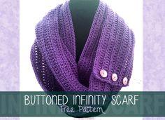 Button Infinity Crochet Scarf Pattern - Free Crochet Pattern!
