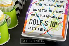 Laser Tag Party Ideas from AmysPartyIdeas.com | #lasertag #party | Laser Tag Favors Ideas