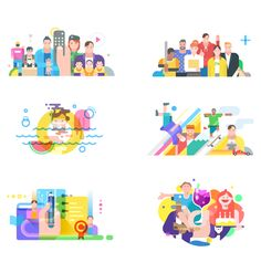 I've worked on illustrations of 'Band' which is the representative service of Camp Mobile.  © Jaehyun Jang