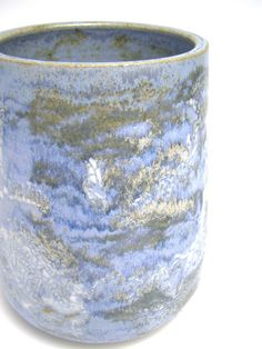 ceramic vase pottery vase Light blue stoneware by Letsgetmuddy, $45.00
