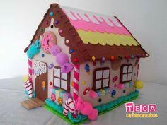 #gomaevanavidad #gomaevamanualidades Xmas Crafts, Christmas Projects, Felt Crafts, Wood Crafts, Diy And Crafts, Crafts For Kids, Christmas Hearts, Pink Christmas, Hansel Y Gretel