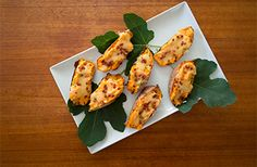 Sweet Potatoes Stuffed with Cream Cheese and Hot Chili Pepper Spread Recipe   Mezzetta