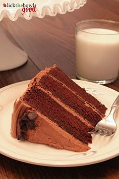Chocolate Celebration Cake with Mocha Cream Cheese Frosting (sour cream and hot coffee)