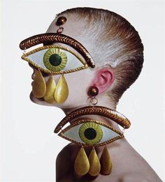 Irving Penn  Gaultier Eye Earrings, New York,  1998