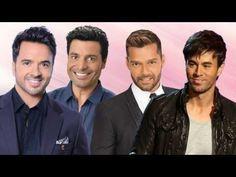 Chayanne, Ricky Martin, Luis Fonsi, Enrique Iglesias EXITOS Sus Mejores Canciones - YouTube