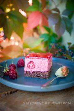 Kostka malinowo-czekoladowa Nigella Lawson, Panna Cotta, Sweets, Cakes, Ethnic Recipes, Dulce De Leche, Gummi Candy, Cake Makers, Candy