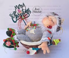 Christmas Gnome, Merry Christmas, Xmas Crafts, Diy And Crafts, Baby Dolls, Teddy Bear, Toys, Elves, Reindeer