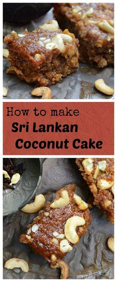 Also known as Bibikkan, the Sri Lankan Coconut cake is a rich, treacly affair laced with sensual spices reminiscent of blissful island life. Cake Recipes, Dessert Recipes, Desserts, Sri Lankan Recipes, Sri Lankan Food, Rich Cake, Tandoori Masala, Indian Sweets, Indian Cake