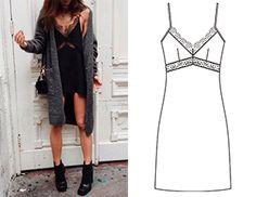 2 в 1: Платье и топ в бельевом стиле