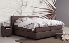 #boxspring Balance Basic - #slaapkamer #comfort #bruin - #Goossens wonen slapen