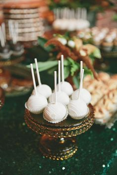 #cake-pops, #dessert  Photography: onelove photography - onelove-photo.com  Read More: http://www.stylemepretty.com/2014/02/28/botanical-inspired-wedding-at-marvimon/