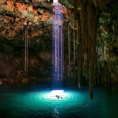 Tag who you'd float with! Cenote in Mexico by @moonmountainman Snapchat : BestVacations •