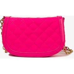 FOREVER 21 Quilted Patent Crossbody ($20) via Polyvore