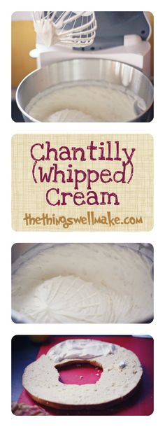 "How to make homemade chantilly cream.  This is the perfect whipped cream for filling cakes like the ""Roscón de Reyes,"" the cake I made for 3 King's day here in Spain."