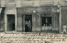 Plaza del Príncipe Alfonso (actual Santa Ana), nº 11, 1900. Tarjeta postal. Museo de Historia (Madrid)