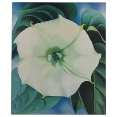 Georgia O'Keeffe, Jimson Weed-White Flower No. 1932 - Crystal Bridges Museum of American Art, Bentonville, Arkansas - © 2016 Georgia O'Keeffe Museum-Bildrecht, Wien - photo Edward C. Georgia O'keeffe, Alfred Stieglitz, Georgia O Keeffe Paintings, Most Expensive Painting, Robert Rauschenberg, Jackson Pollock, Andy Warhol, Oeuvre D'art, American Artists