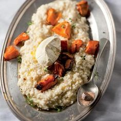 Taste Mag | Mascarpone and pumpkin risotto with ground nutmeg @ https://taste.co.za/recipes/mascarpone-and-pumpkin-risotto-with-ground-nutmeg/