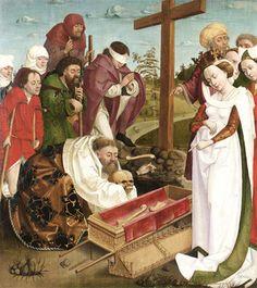 Meister der Oswaldlegende, Überführung der Gebeine des Hl. Oswald, Steiermark, um 1480/85 | © © Belvedere, Wien