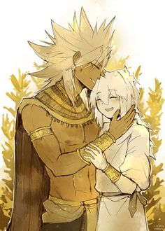 """ Anonymous said: Melvin egyptian [AU] or Ryou egyptian[AU] "" BOTH. I especially love them together."