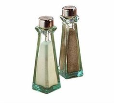 Green Tint Glass 3 Oz. Shaker With ABS Top | Salt and Pepper Shakers