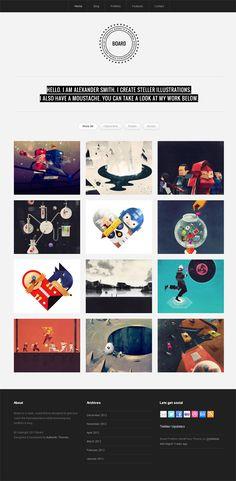Board, WordPress Responsive Portfolio Theme